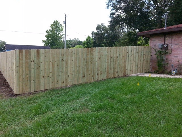 Wood Privacy Fence Hercules Fence Company Gainesville